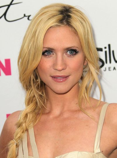 Brittany Snow's Long Blonde Hair In Loose Side Braid
