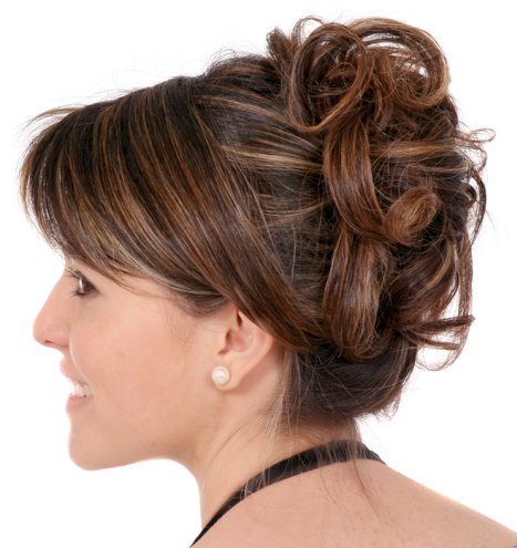 This Pretty Curly Updo Is Perfect For Prom Or Weddings.