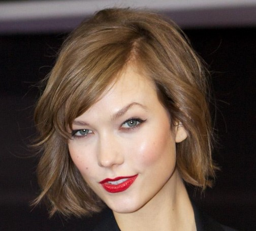 Short Brown Bob With Side Bangs - Casual, Fall, Everyday ...