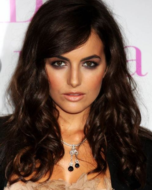 Camilla Belle's Dark Brown Hair In Long Curly Hairstyle