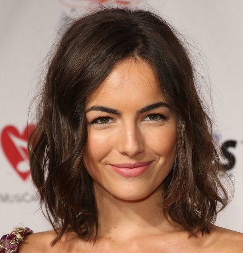 Camilla Belle Dark Brown Hair In Sexy Wavy Hairstyle
