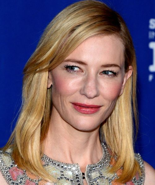 Cate Blanchett's Medium-Length Simple Straight Blonde Formal Awards Hairstyle