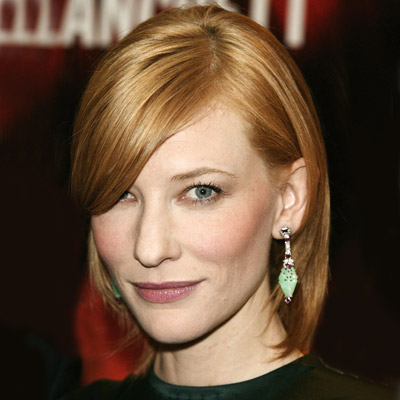 Cate Blanchett's Straight Hair In Short Auburn Casual Hairstyle
