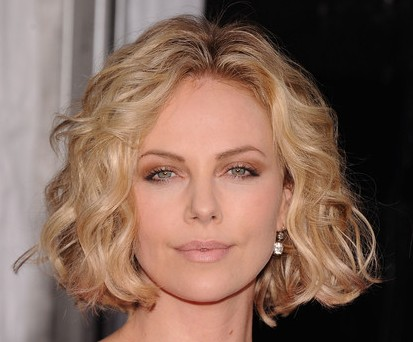 Charlize Theron Short Blonde Sexy Bob Haircut