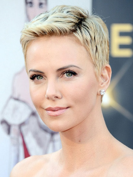 Olivia Charlize Theron Short Hair