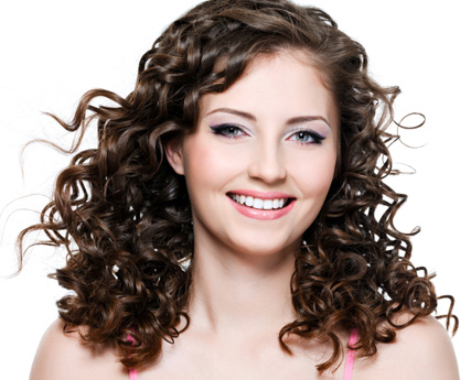 Brown Naturally Curly Hairstyle Casual Everyday