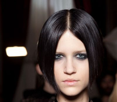 Pleasant Sleek Bob With Middle Part Casual Everyday Fall Winter Short Hairstyles Gunalazisus