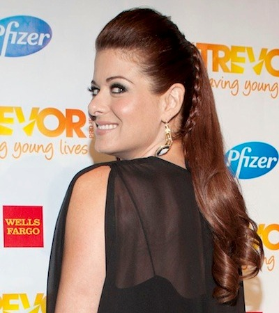 Debra Messing Long Hair With Waves At Ends And Braid