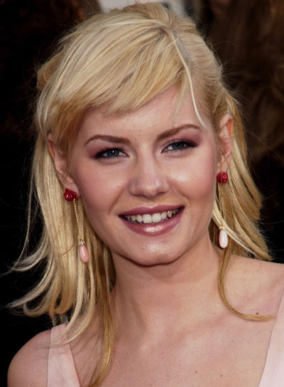 Elisha Cuthbert's Blonde Straight Hair With Shaggy Bangs