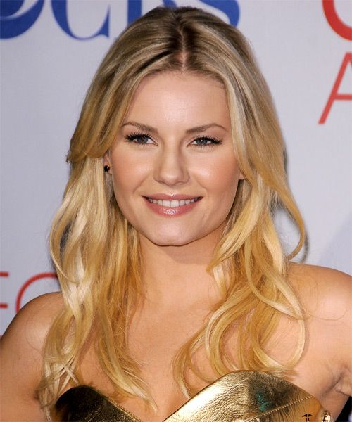 Elisha Cuthbert's Long Blonde Hair in Wavy Formal Hairstyle