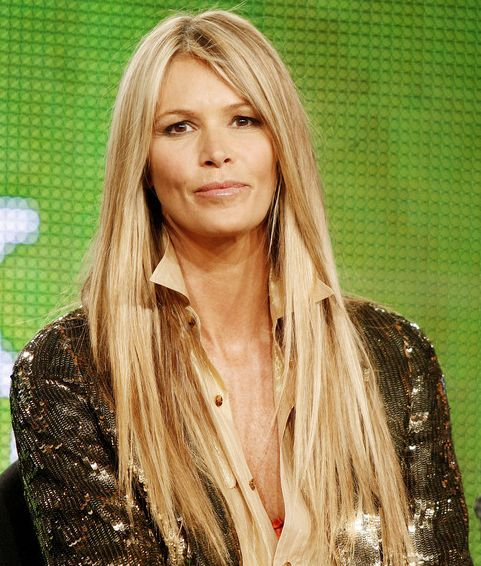 Elle Macpherson's Long Straight Blonde Hair In Casual Hairstyle