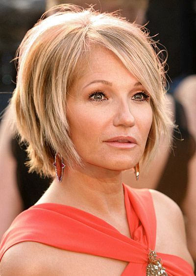 Ellen Barkin Sexy Short Blonde Hair In Mature Wedge Hairstyle