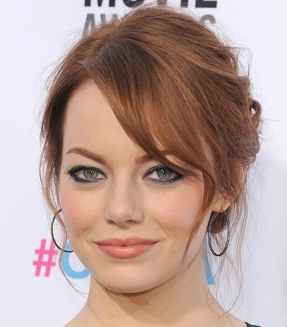 Emma Stone's Messy Low Bun Hairstyle