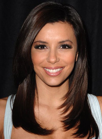 Eva Longoria's Long Layered Straight Hair Is Very Sexy.