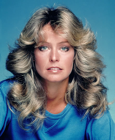 Farrah Fawcett's blonde locks hair from Charlies Angels