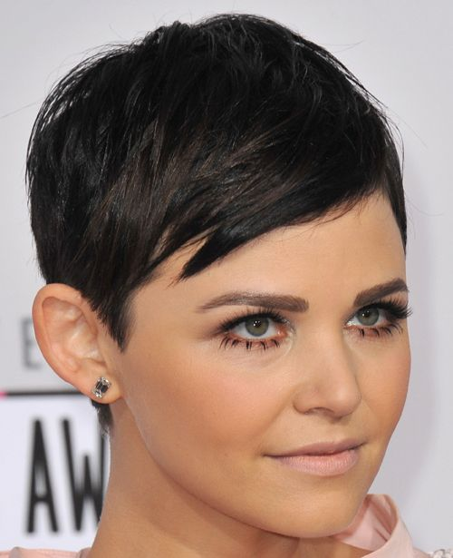 Ginnifer Goodwin's Straight Brown Hair In Short Pixie Hairstyle