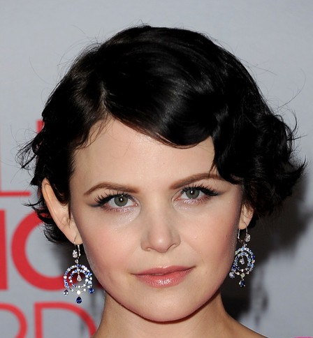 Ginnifer Goodwin Vintage Elegant Feminine Finger Wave Formal Hairdo