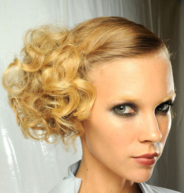 Curly Side Updo Prom Wedding Formal Careforhair