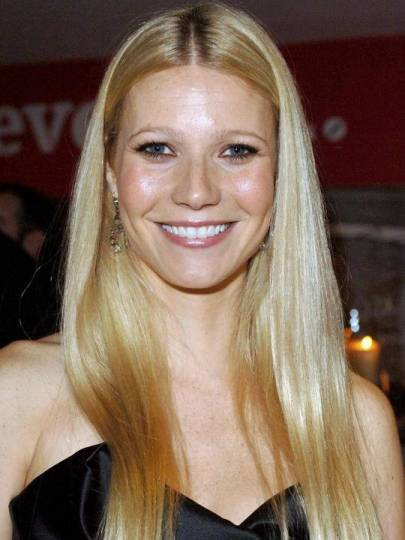 Gwyneth Paltrow Long Blonde Straight Fine Hair With Middle Part