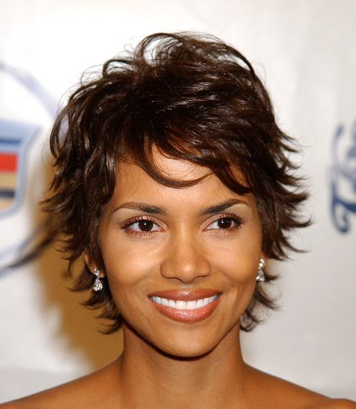 Halle Berry Short Shag Hairstyle - Casual, Everyday - Careforhair.co.uk