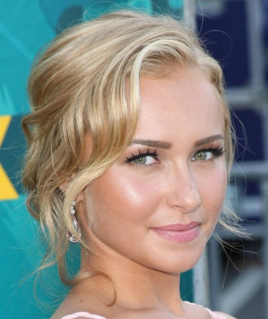 Hayden Panettiere Blonde Hair In Romantic Wavy Formal Hairdo