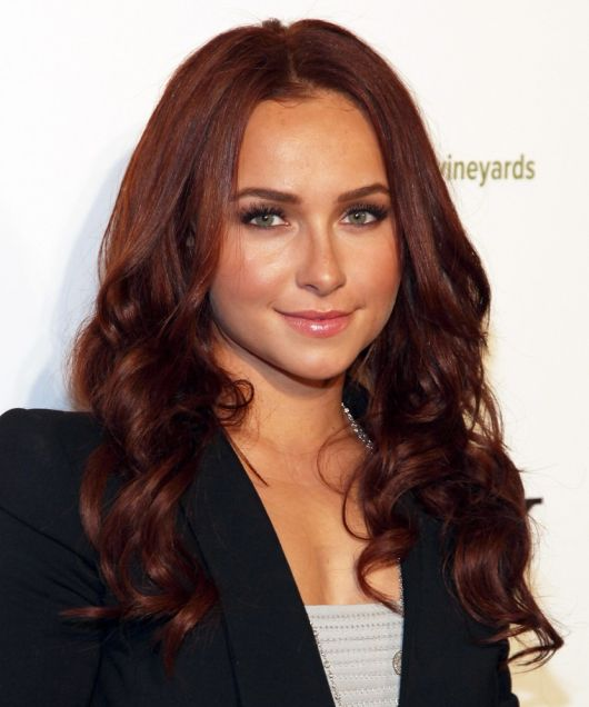 Hayden Panettiere's Brunette Hair In Sweet Girly Long Wavy Hairstyle