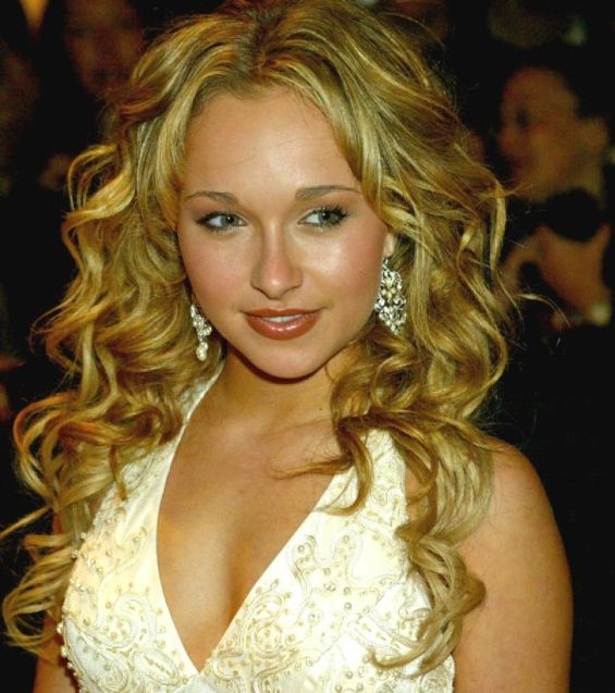 Hayden Panettiere's Long Blonde Hair In Curly Formal Hairstyle