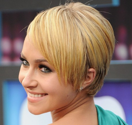 Hayden Panettiere Chic Short Blonde Straight Hairstyle For Everyday