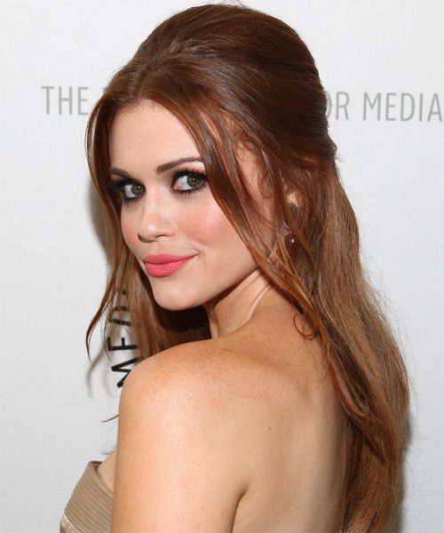 Holland Roden's Long Red Hair In Half-Up Sexy Hairdo
