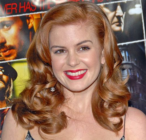 Isla Fisher's Long Thick Red Hair In Wavy Formal Hairstyle