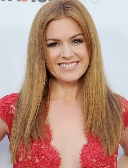 Isla Fisher red straigh hair