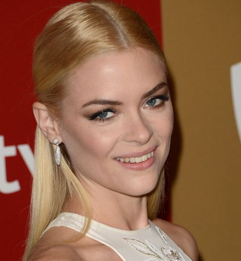 Jaime King's Blonde Straight Hair In Sleek Half-Up Hairdo