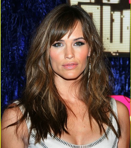 Jennifer Garner Side Part With Bangs Party Evening