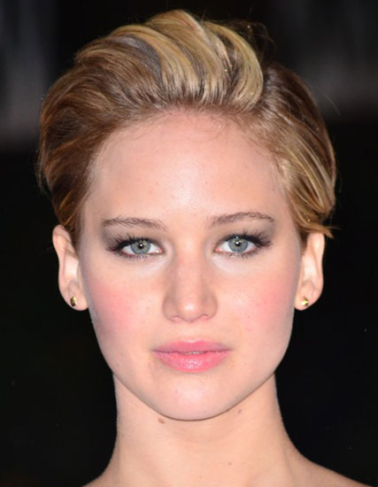 Jennifer Lawrence's Elegant Pompadour Short Hairstyle