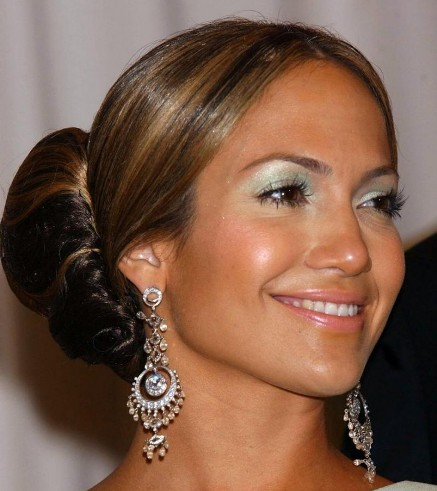 Jennifer Lopez's Long Straight Hair In A Large Ballerina Bun