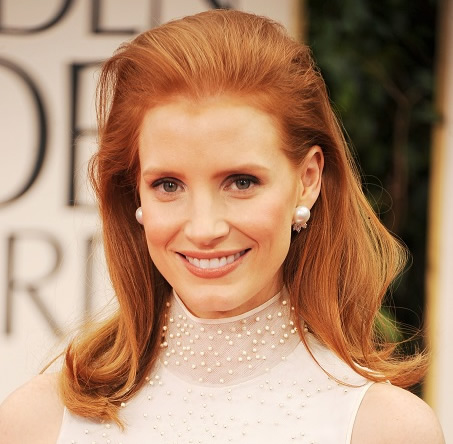 Jessica Chastain's Red Bouffant hair