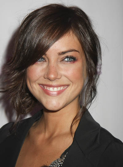Jessica Stroup Sexy Casual Layered Brunette Hair In Loose Updo
