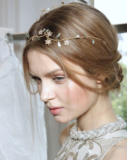 Josephine Skriver's Long Straight Hair In Loose Romantic Chignon Hairdo