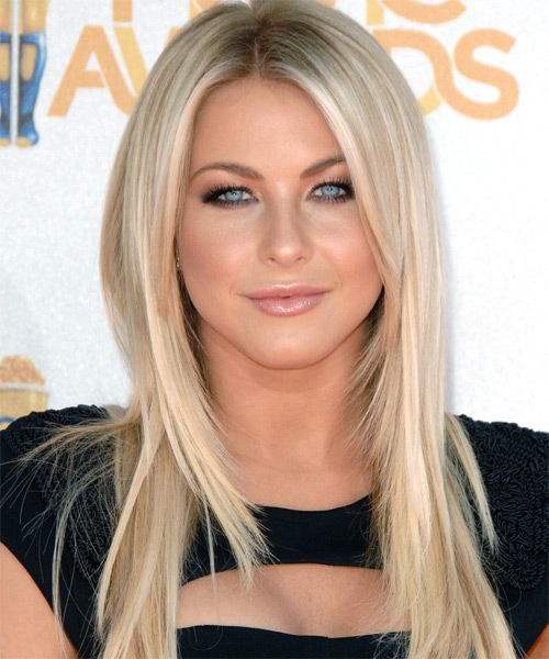 Julianne Hough's Light Blonde Hair In Long Straight Hairstyle