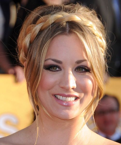 Kaley Cuoco Braided Updo. Kaley Cuoco s blonde hair ... 4e6762c2d22
