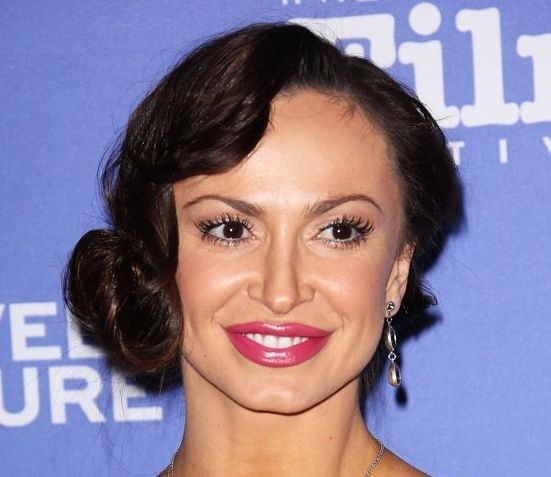 Karina Smirnoff's Short Curly Vintage Formal Awards Hairstyle