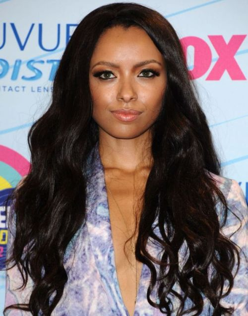 Kat Graham's Long Wavy Black Hair In Loose Sexy Hairstyle