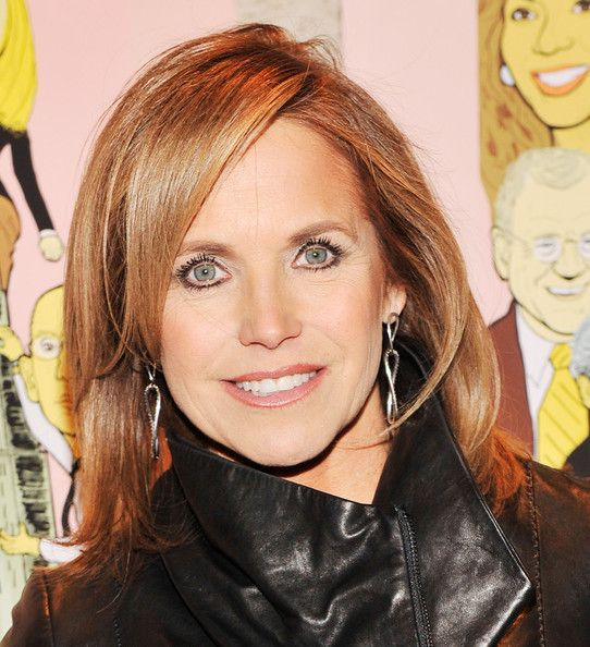 Katie Couric's Shoulder-Length Layered Flipped Out Hairstyle
