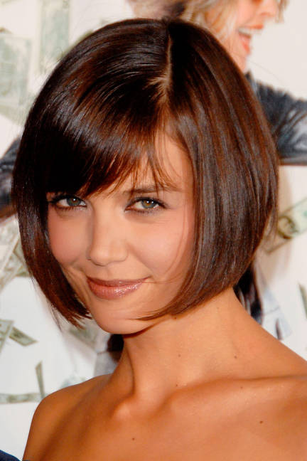 Katie Holme's Short Bob Look with Bangs