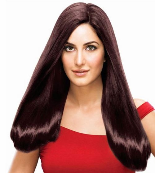 Katrina Kaif's Dark Brown Hair In Long Straight Casual Hairstyle