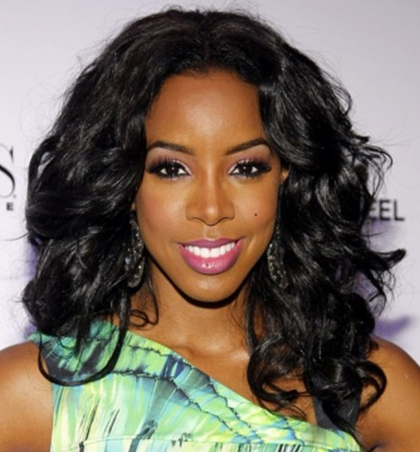 Strange Kelly Rowland Big Curly Hairstyle Formal Party Prom Short Hairstyles For Black Women Fulllsitofus