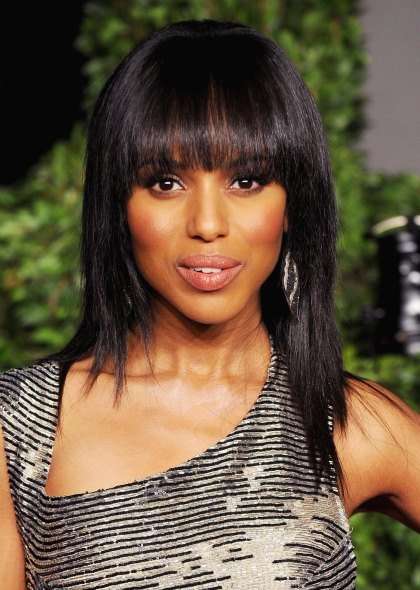 Kerry Washington in A Gorgeous Sleek Layered Haircut