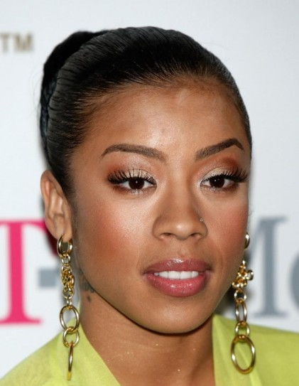 Keyshia Cole's Black Hair In Elegant Sleek Ballerina Style Bun