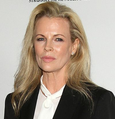 Kim Basinger's Blonde Hair In Long Straight Casual Hairstyle