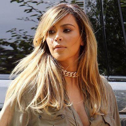 Kim Kardashian's Long Blonde Layered Hairstyle For Fall